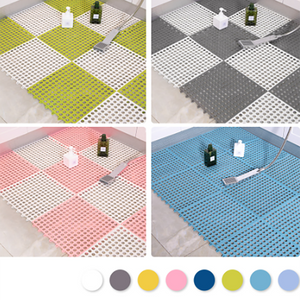 4PCS Bathroom Waterproof Splice Mat