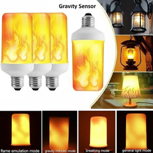 LED Flame Effect Light Bulb 4 Modes Flickering Bulb