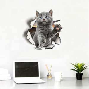 Removable 3D Cartoon Cats Wall Stickers