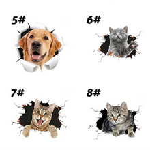 Load image into Gallery viewer, Removable 3D Cartoon Cats Wall Stickers