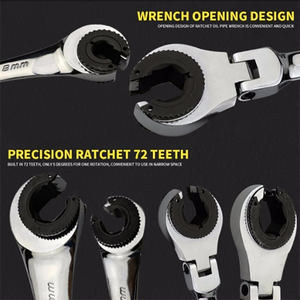 8-19mm Combination Tubing Wrench