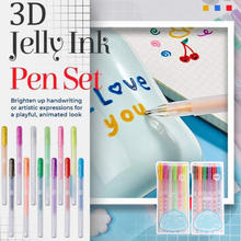 Load image into Gallery viewer, 3D Glossy Jelly Ink Pen Set