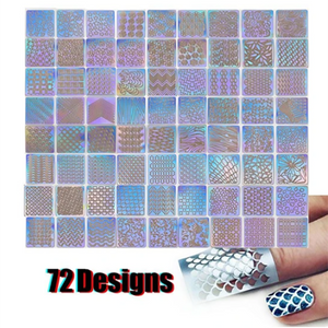 48 Sheets Nail Art Hollow Laser Sticker