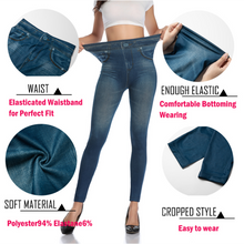 Load image into Gallery viewer, Women Slim Stretch Jeans Leggings