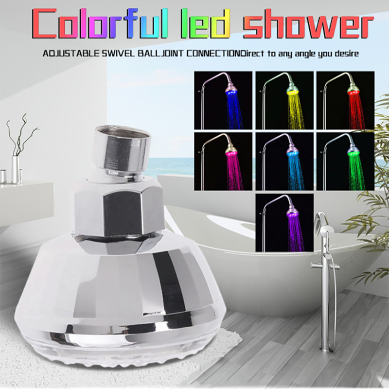 Multi Color LED Top Shower Head
