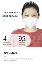 Load image into Gallery viewer, KN95 Face Mask Respirator(5PCS/10PCS/20PCS)