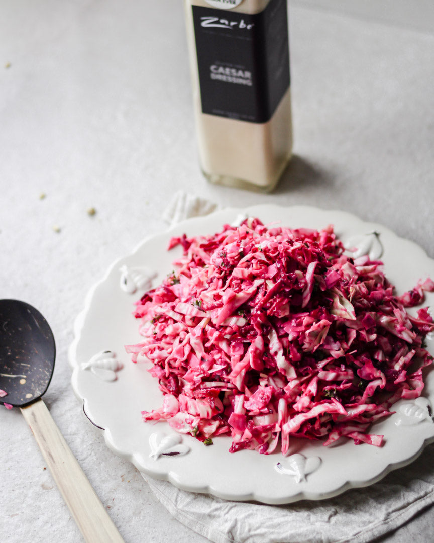 Creamy Cabbage, Beetroot and Coconut Slaw