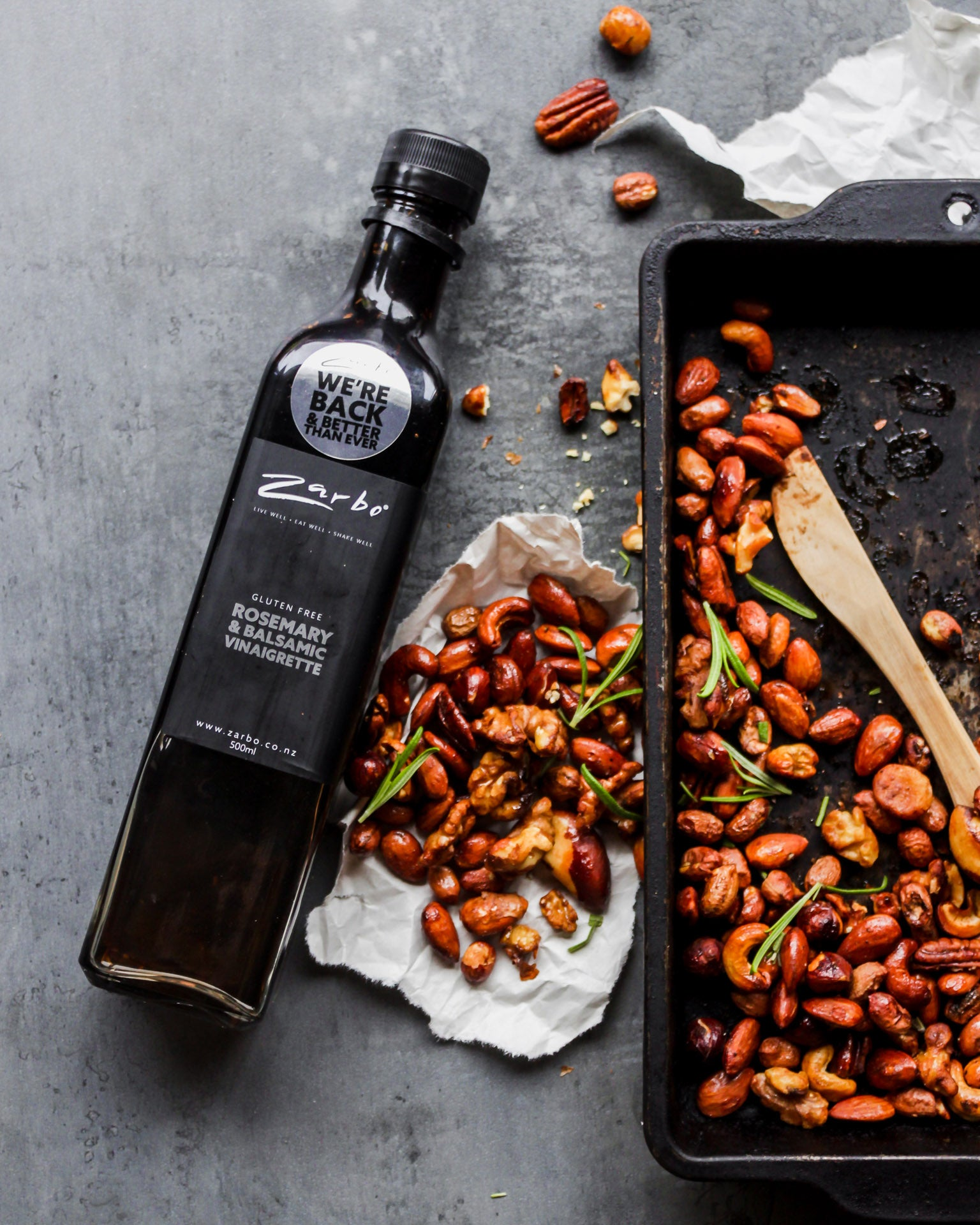 Rosemary & Balsamic Roasted Nuts