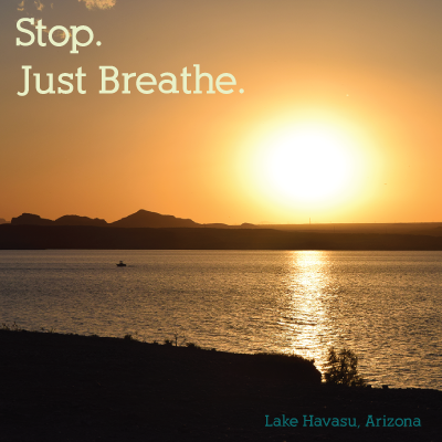 Stop. Just breathe.