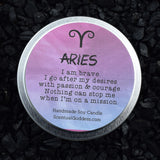 ARIES Candle March 21 - April 19, The Ram Zodiac Symbol