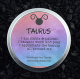 TAURUS Candle April 20 - May 20, The Bull Zodiac Symbol