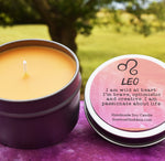 LEO Candle, July 23 - August 22, The Lion Zodiac Symbol