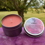 VIRGO Candle, Aug 23 - Sep 22, The Virgin Zodiac Symbol - Sandalwood & Patchouli Scent