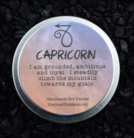 CAPRICORN Candle Dec 22 - Jan 19, The Sea Goat Zodiac Symbol