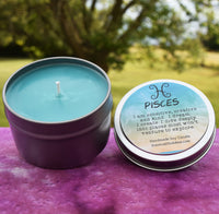 PISCES Candle Feb 19 - Mar 20, The Fish Zodiac Symbol