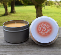 Sacral Chakra Candle - Passion, Creativity & Emotional Freedom - Svadhishthana 2nd Naval Chakra