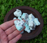 Amazonite Raw Crystal Chunk - Warrior Goddess Stone - Throat Chakra Crystal