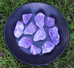 AMETHYST Raw Crystal Chunk - Crown & Third Eye Chakra Crystal - February Birthstone