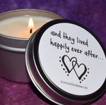And They Lived Happily Ever After Candle - Wedding & Engagement Gift