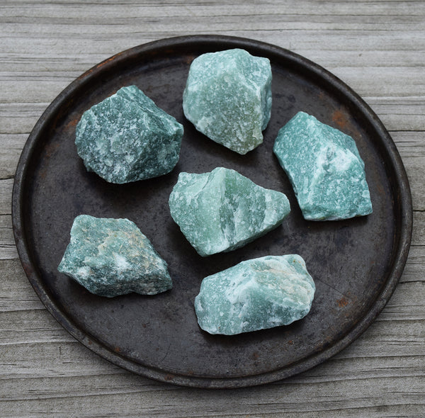raw green aventurine chunk