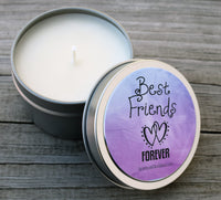 Best Friends Forever Candle - Best Friend Gift, BFF, Friendship Candle