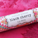 BLACK CHERRY Lip Balm, Cherry Chapstick, Natural Handmade Lip Coconut Oil Lip Balm