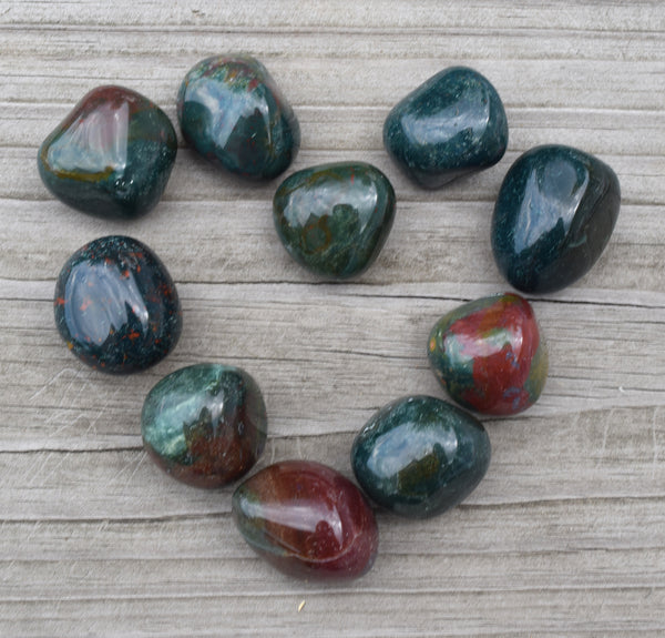 BLOODSTONE Abundance Stone, Feel More Grounded, & Self Sufficient, Courage to Thrive