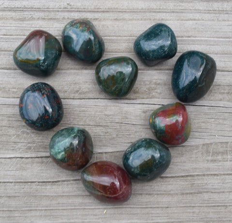 BLOODSTONE Healing Stone - Aid Blood Pressure Circulation & Diabetes - Abundance & Prosperity