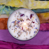 CHAKRA BALANCE Candle - Handmade Intention Candle for Balancing Your 7 Chakras - Meditation Yoga