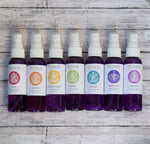 Chakra Sprays Set - Aromatherapy with Crystals, Balance Your Chakras, Yoga Meditation