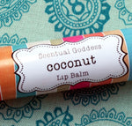 COCONUT Lip Balm, Natural Lip Balm, Tropical Coconut Flavored Chapstick