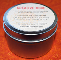 CREATIVE JUICE Candle - Spark Your Creativity - Writing, Poetry, Music, Crafting, New Projects
