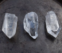 Crystal Quartz Point - Raw Natural Clear Quartz Crystal Point - Clarity, Strength & Power