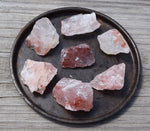 FIRE QUARTZ raw crystal - Natural Rough Hematite Quartz Crystal Chunk