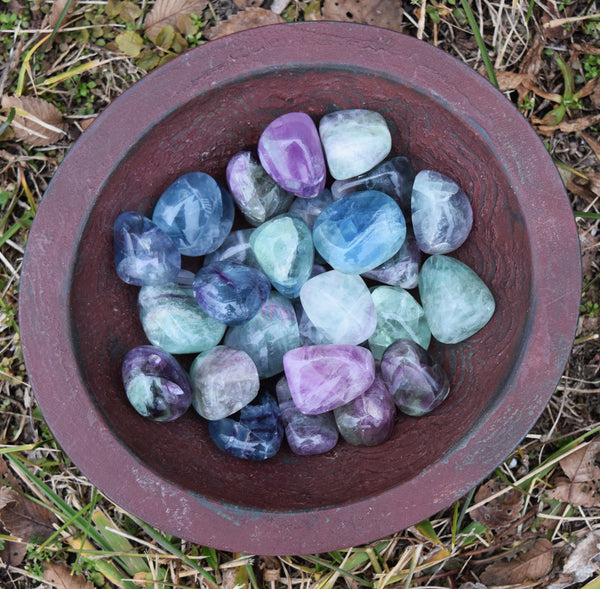 FLUORITE Smart Decisions Stone - Make Better Choices - Healthy Lifestyle Talisman