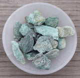 FUCHSITE Raw Crystal - Natural Sparkling Green Heart Chakra Stone