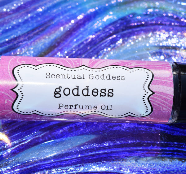 GODDESS Perfume Oil - Beautiful Blend of Cotton Candy, Raspberries & White Musk - Fit for a Goddess!