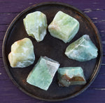 GREEN CALCITE Magical Transformation & Manifestation Stone, White Witch Crystal