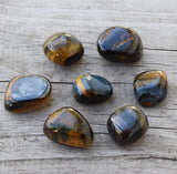HAWKS EYE Blue Tiger Eye Stone of Higher Perspective, Shaman Stone, Astral Travel