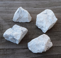 white howlite raw crystal