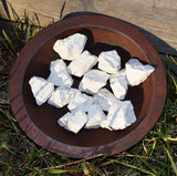 raw white howlite crystals