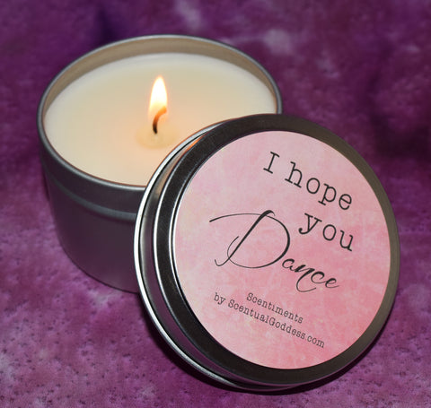 I Hope You Dance - Scentiments Inspirational Candle Gift