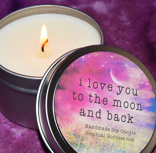 I Love You To The Moon and Back Candle