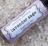 LAVENDER SAGE Perfume - French Lavender & White Sage Scented Perfume Oil