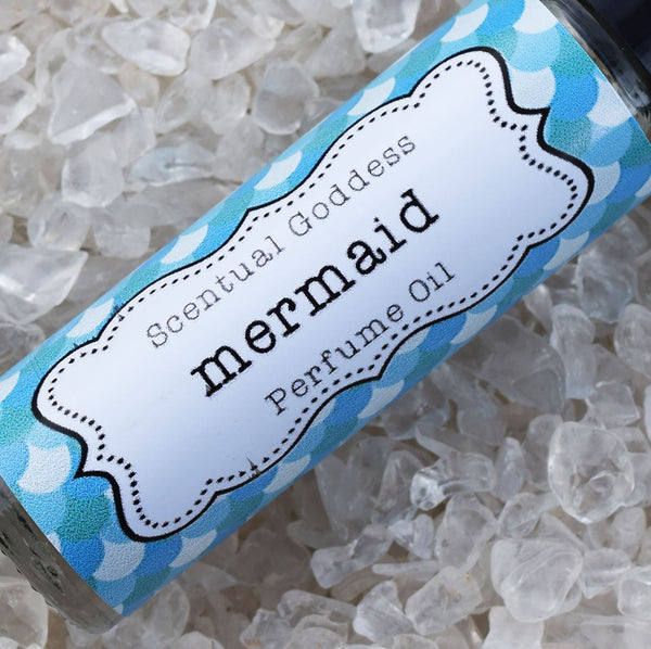 MERMAID Perfume - Deep Blue Ocean Salt Water Mixed with Tropical Florals