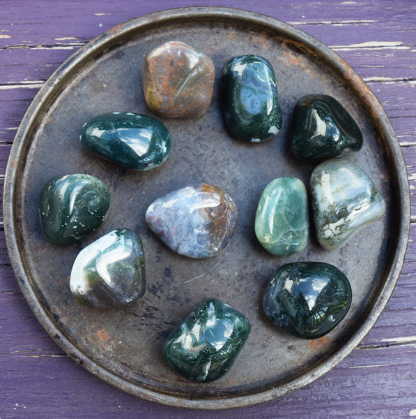 Green Moss Agate Crystal