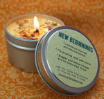 NEW BEGINNINGS Intention Candle - Start a New Chapter & Kick Open New Doors - New Moon Candle