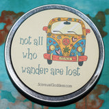 Not All Who Wander Are Lost - Featuring a Beautiful Mermaid - Scentiments Inspirational Candle Gift