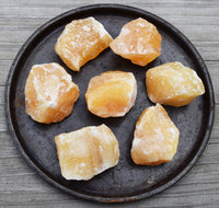Raw Orange Calcite Rocks