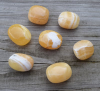 ORANGE CALCITE Tumbled Stone, Happiness & Good Vibes, Sacral Chakra Crystal